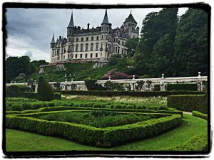 Dunrobin Castle is a  fairy tale castle on outskirts of Golspie.