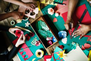 Spend a thrifty afternoon crafting with friends.