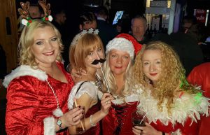 Our lovely Social Circle ladies ready for the Santa Pub Crawl.