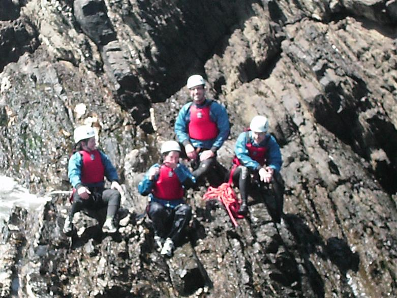 Manchester adventure group in Anglesey