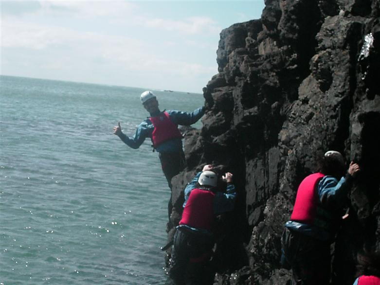 Manchester adventure coasteering