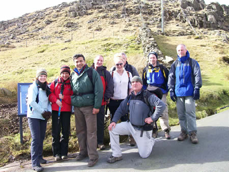 Manchester Walking Group on Snowdon Walk